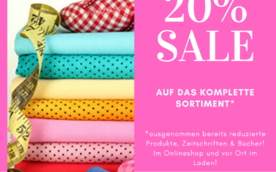 20%* Sale 04.-09.02.2020 bei Stoff-Ambiente